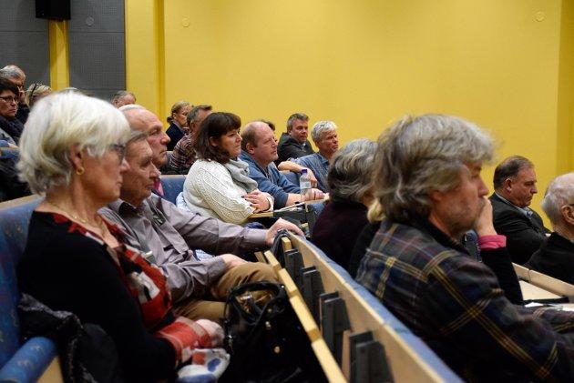 Mange: Omtrent hundre møtte opp da Ringerike og Hønefoss Rotary inviterte til folkemøte rundt grønt skifte på HSN.