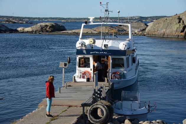 Anne Marie Tollefsen er klar for turen videre blant Koster-øyene.