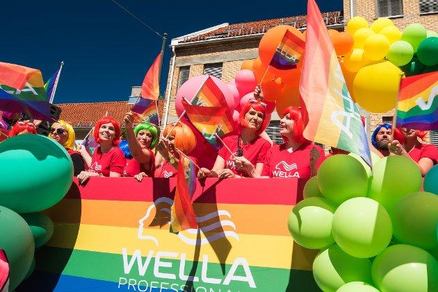 IKKE BARE FARGER OG GLEDE: Oslo Pride 2018 - en gate full av farger, kjærlighet og glede. I forbindelse med dette arrangementet ble Stig-Johnny Egren fra Vestbyspyttet på og truet med en knytteneve. Bare fordi han var homofil.