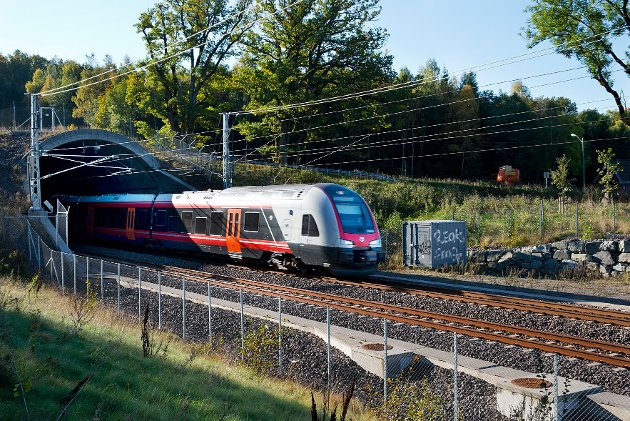 Tog på Vestfoldbanen