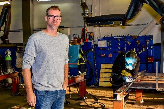 Jens Mellquist er daglig leder ved Askim Mekaniske Verksted. Arkivfoto.