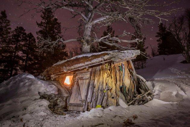 HEMMELIG HYTTE: Hemmelig hytte presentert i boka «Hemmelige hytter». (Foto: Marius Nergård Pettersen)