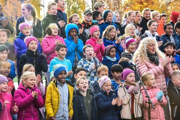 Åpning av nye Sætre skole - barneskole. oktober 2018.