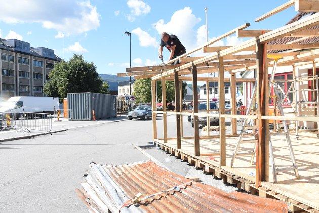 Dugnadsarbeider Joachim Botten fra Sandefjord - Notodden Blues Festival forberedelser.