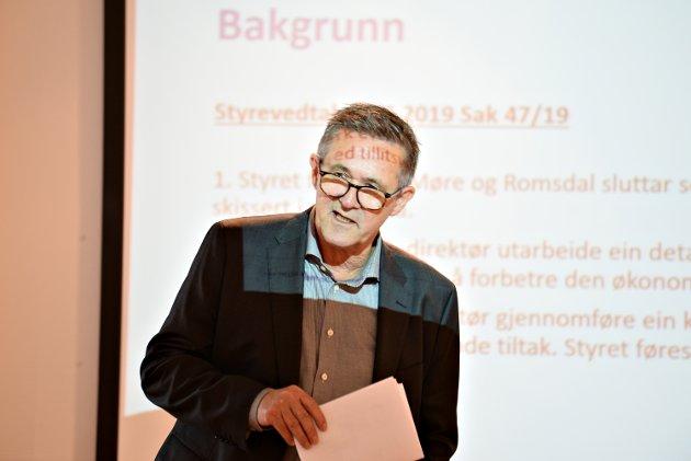 Nils Kvernmo trenger en plan B hvis det ikke er mulig å bygge fellessykehuset med det innhold og kapasitet som er forutsatt.