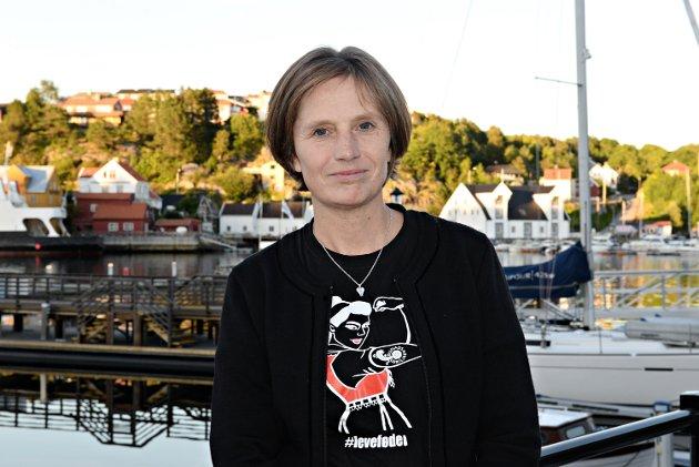 Kjersti Toppe, Senterpartiet, Sp, på Bunadsgeriljaens arrangement i Kulturfabrikken 020920.