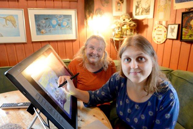 VELLYKKET SAMARBEID: Gro Dahle og Kaia Dahle Nyhus har gitt ut to bøker i høst. Begge får terningkast seks av TBs litteraturanmelder.