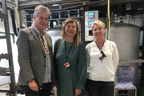 Fra v: Kåre Pettersen, Trine Jørgensen Dahll og Susan Heldal, OiW Process