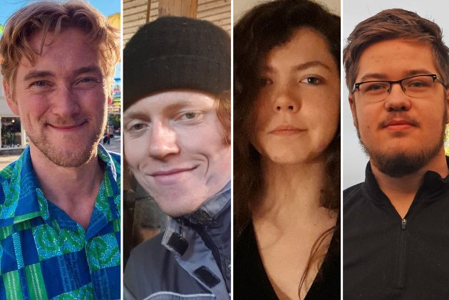 Ivar Østby, Leah Myren Bystad, Eirik Kristoffersen og Ole August Iversen ønsker at ungdom skal få velge seg skolen på sitt hjemsted.