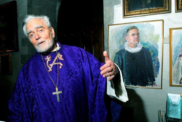 Biskop Per Lønning fylte 80 år i 2008 og talte i Domkirken.