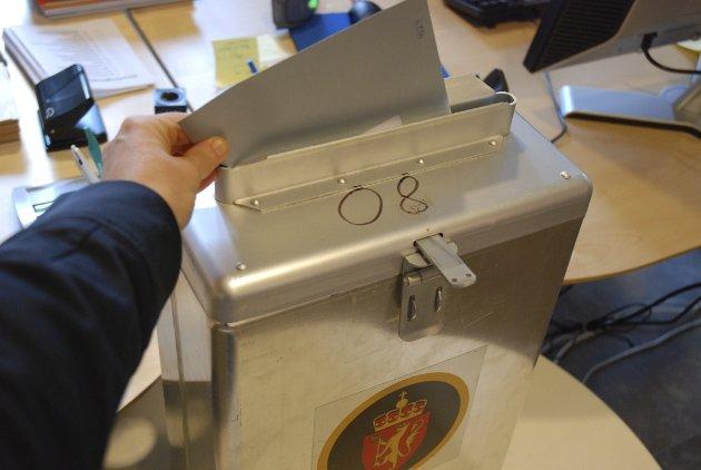 Bruk din rett: Rekordmange har forhåndsstemt. Mobiliseringen til valglokalene avgjør årets valg.