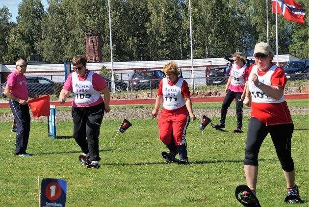 TRUGELØP: Her konkurreres det i 50 og 100 meter med truger.