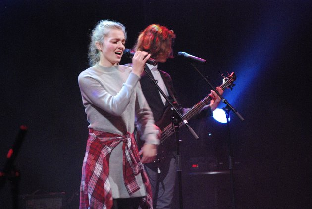 Ingrid Jokic som vokalist i kulturskolens eneste band, imponerte.