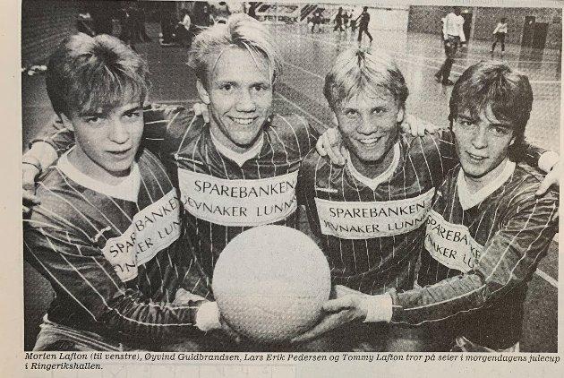 Julecup med to ganger Lafton på ytterkant - Morten og Tommy. I midten står Øyvind Gulbrandsen og Lars Erik Pedersen.
