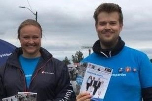 Anette Elseth og Brede Rørhus fra Lillestrøm Frp