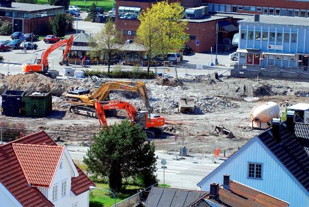 Utbygging av Hvaltorvet 2007.