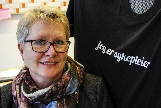 Karen Brasetvik, leder for Sykepleierforbundet i Østfold. (Foto: Stina Mikalsen)