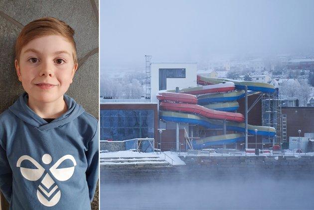 Jeg synes at vi i tredje klasse må få lære oss å svømme, sånn at vi ikke drukner eller skader oss når vi skal bade til sommeren. Jeg skjønner at ungdom som ikke kan svømme også trenger å lære, men vi har bare hatt tre timer med svømming hele livet, skriver Torvald Kragøe Skjelvan.