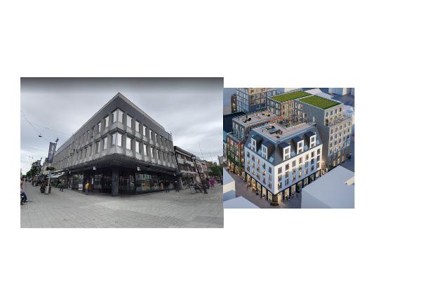 Eksempel fra en hjørnetomt fra Haugesund og Fredrikstad