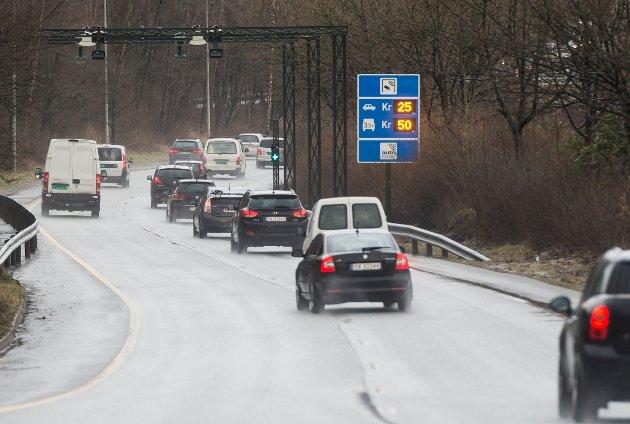 Nå stuper inntektene fordi andelen el-biler, som nesten ikke betaler bompenger, øker kraftig. ARKIVFOTO: Rune Johansen