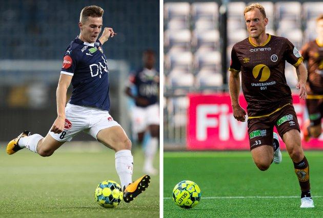 LOKAL FIGHT: SIF og MIF, her representert ved Johan Hove (t.v.) og Stian Sem Aasmundsen, kjemper om å være best i Drammen kommune, og for å unngå nedrykk.
