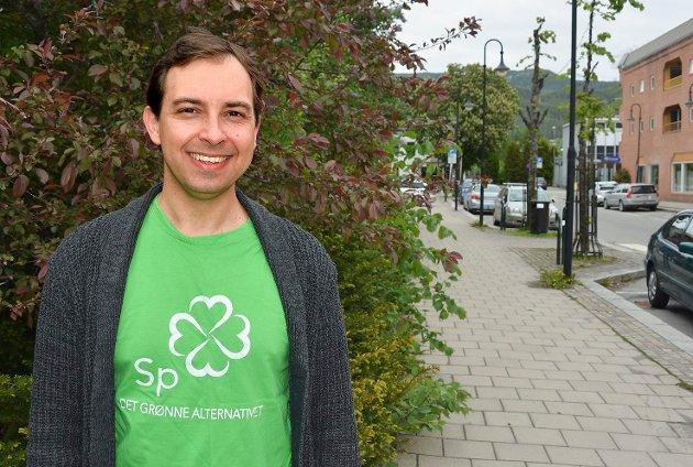 Kim Mogen Myhre fra Fiskum er leder av Øvre Eiker Senterpartis.