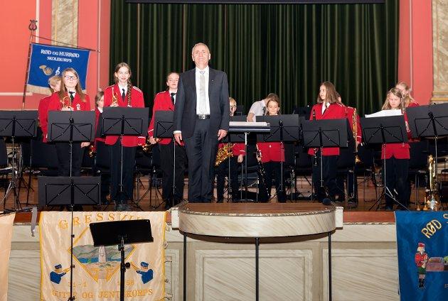 Bildeserie i fra Jubileumskonsert Rød og Hurrød skolekorps.