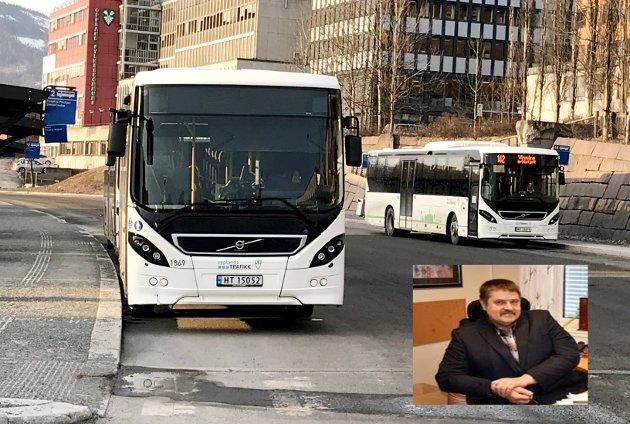 BUSS: ikkje bruk tid på endre noko vi har fått klarheit i fungerer godt, i ein tid der vi har nok med å få sydd saman to fylker. Berre det denne prosessen har kosta, kunne mange køyrt buss for i årevis gratis, skriv ordførar i Vestre Slidre Haldor Ødegård (Sp).