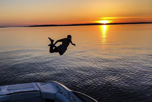 UKEVINNER: «Solnedgang i Spoonbay!» Foto: Per Ståhl