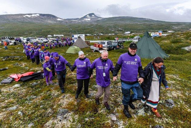 ARN Arctic Race of Norway. Etappestart på Saltfjellet ved Polarsirkelsenteret. Verdensrekord i Souvasspising.