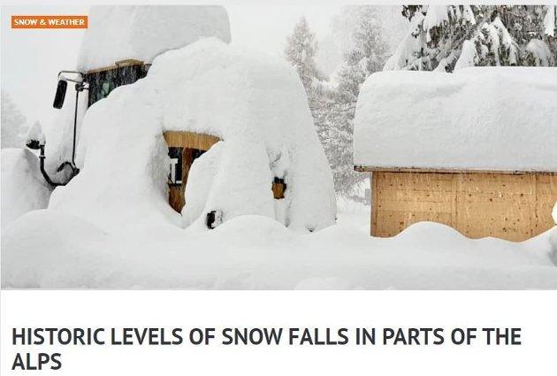 Det er plenty med snø mange plasser