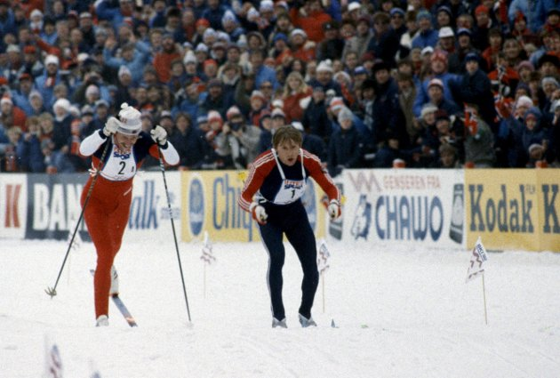 Under VM i Oslo i 1982, brakk Oddvar Brå staven i siste stafettetappe, og det ble delt gull mellom Sovjet og Norge.