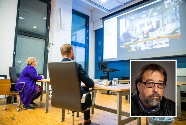 Siste uka i mars 2020 ble det på global basis gjennomført 900 millioner videomøter. Statsminister og helseminister i vidoemøte med en kommune.