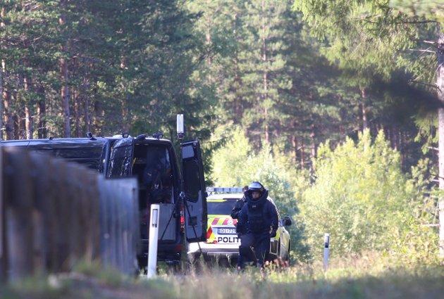 Bombegruppa på plass ved Svene.