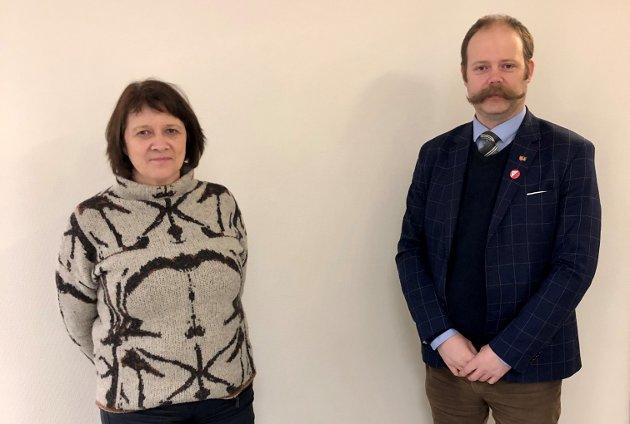 Kristina Hansen, leder i Finnmark Arbeiderparti og Bjarne Rohde, leder i Troms og Finnmark SV.