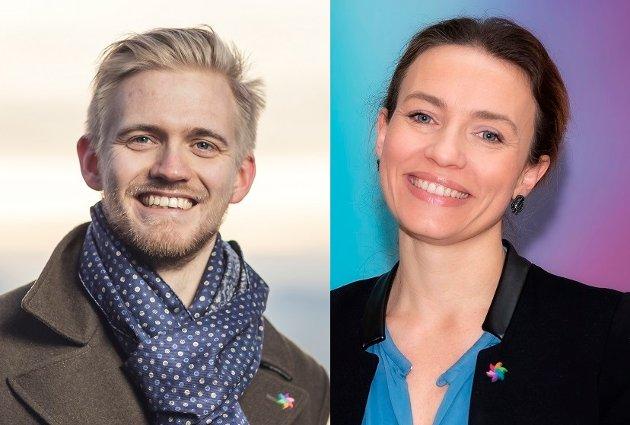 Brage Sollund og Ingrid Ross i Kreftforeningen.