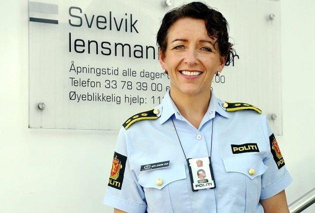 DEN SISTE:  Astri Johanne Holm Svelvik blir den siste lokale lensmann. Arkivfoto