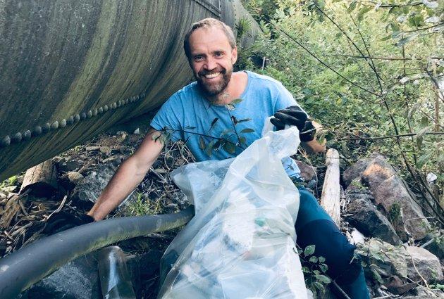 EN PERLE: Vår visjon er å få ei elv uten søppel, samtidig som vi ønsker å åpne folks øyne for den skatten vi har, sier Anders Nermoen i Nitelvas Venner.