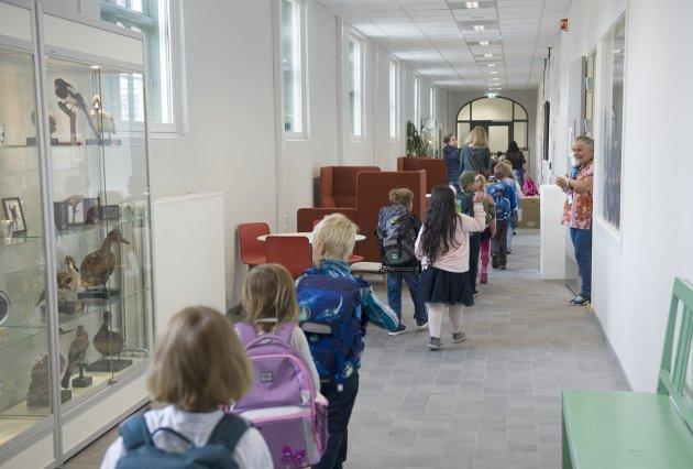 I dette innlegget deler Chris Tvedt sine meninger om utviklingen i skolen. Bilde fra første skoledag på Møhlenpris oppveksttun på onsdag.