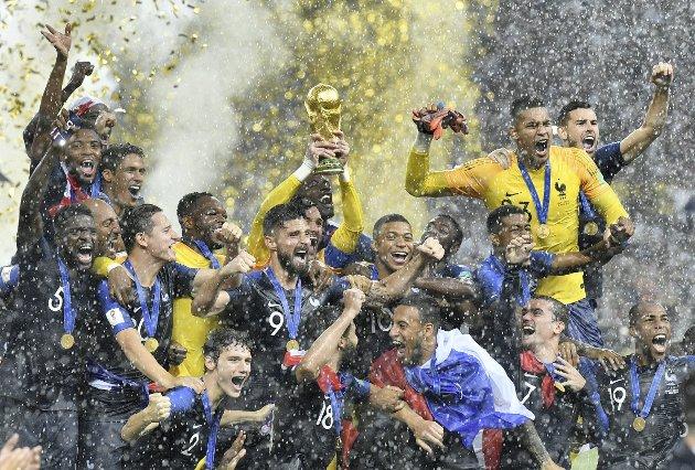 Frankrike vant 4–2 over Kroatia forrige søndag, og gikk dermed seirende ut av fotball-VM.