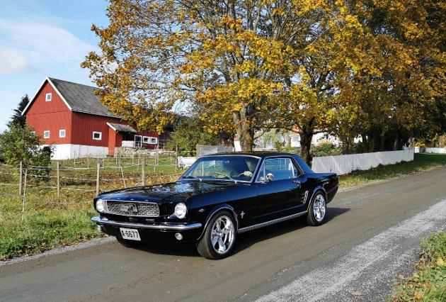 SKINNER: Rune har alltid vært opptatt av Ford Mustang fra 1960-tallet. Nå kan han kruse rundt i sitt eget eksemplar.
