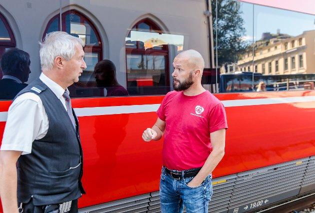 MER PÅ BANE: – En ny moderne jernbane ville bidra til at flere brukte jernbanen både til persontransport og godstrafikk mellom Oslo og Gøteborg, mener Arve Sigmundstad, gruppeleder i Halden Arbeiderparti.