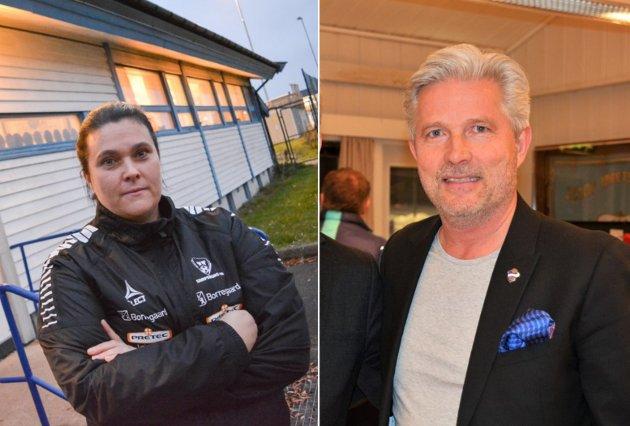 Veronica Fredriksen Ribe og styreleder i Sprint, Johan Storvik.