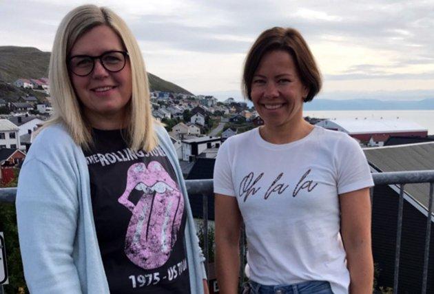 Tone Pedersen og Sirin Høyen, listekandidater for Nordkapp Høyre.