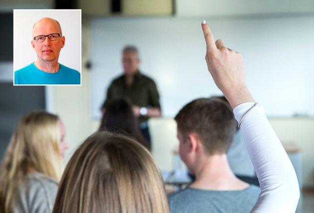 LAGARBEID: – Som politiker har Odd Christian Hagen et ansvar for laget rundt læreren, påpeker Arne O. Walbye.