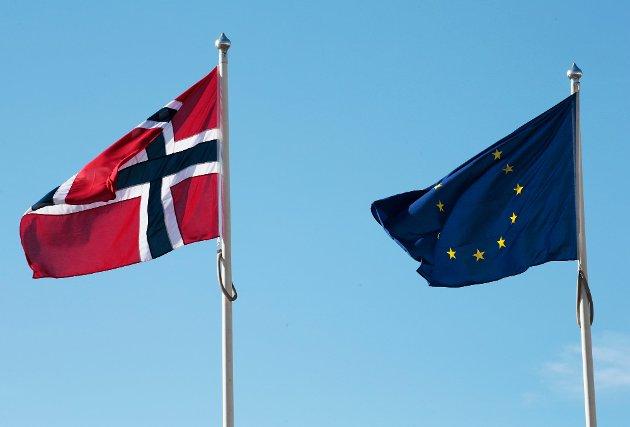 «Høyre-regjeringen må stille krav om å kutte i Norges enorme økonomiske bidrag til EU når dette skal forhandles på nytt i 2021», skriver Emilie Enger Mehl, stortingsrepresentant for Senterpartiet, i dette innlegget. (Foto: Lise Åserud, NTB)