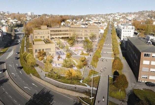 KRITISK: Byforsker Erling Dokk Holm er svært skeptisk til planene som foreligger for nye Os skole.
