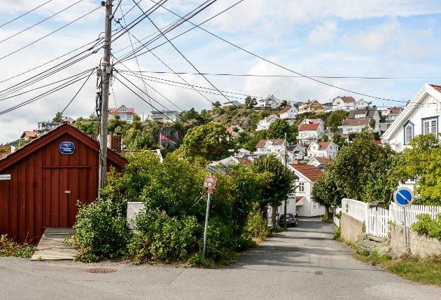 Dette er inngangen til Smedsbukta - en av Kragerøs eldste bydeler.
