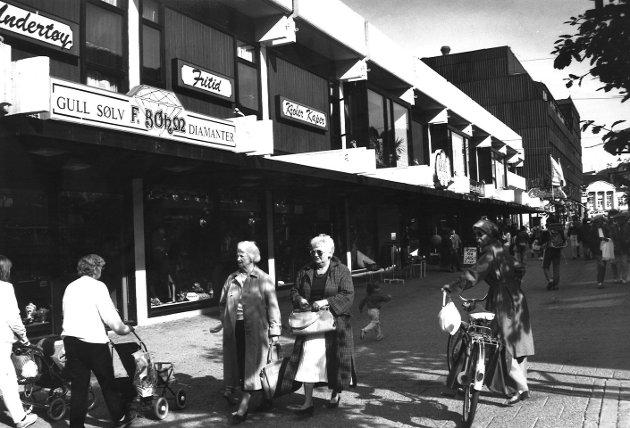 Gågata i Moss, september 1988