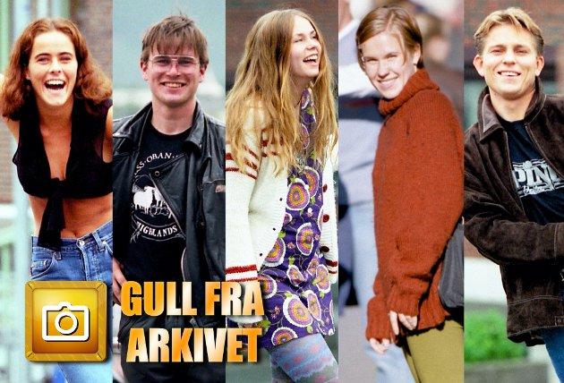 MOTE PÅ 1990-tallet: Siri Ratkje, Arnt-Inge Sandvik, Vigdis Hanssen og Steinar Nilsen poserer for fotograf Yngve Olsen, men hvem er kvinnen i oransje genser?